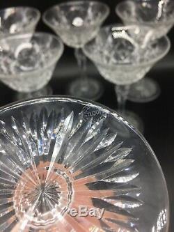 Serie De 6 Coupes A Champagne En Cristal De St Louis Modele Rare