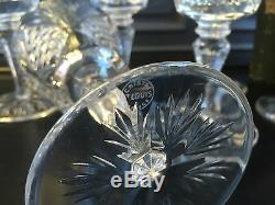 Serie De 6 Verres A Vin Blanc Cristal Signes Saint Louis