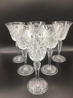 Serie De 6 Verres A Vin Rouge En Cristal De Saint Louis Modele Rare