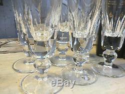 Serie De 8 Flutes A Champagne En Cristal Saint Louis Modele Jersey