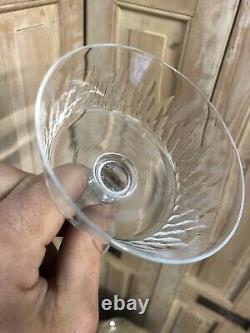 Série de 4 Coupe a Champagne en Cristal Baccarat ou Saint St Louis Service
