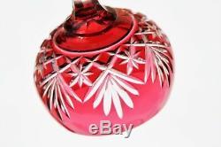 Série de 6 verres Roemer en cristal de St Louis modèle Massenet couleur rouge