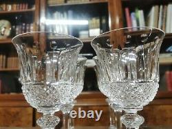 Série de 6 verres à eau en cristal de Saint Louis modèle Tommy 18cm