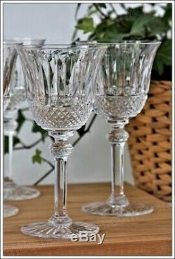 Série de 6 verres à vin de Bordeaux n°4 en cristal de St Louis modèle Tommy (A)