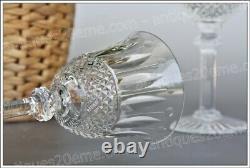 Série de 6 verres à vin n°3 en cristal de St Louis modèle Tommy 17 cm