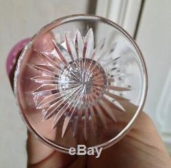 Série de 6 verres liqueur cristal coloré Saint Louis Modéle Tommy