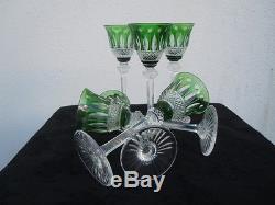 Série verres liqueur cristal St louis France cristal de Couleur modèle Tommy