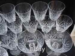 Service 26 verres cristal taillé Saint-Louis 19ème