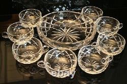 Service à crème en cristal de Saint Louis saladier 8 coupes