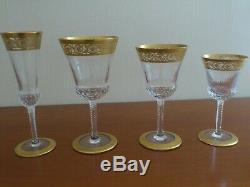 Service de 47 verres St Louis Cristal & Or Thistle parfait état