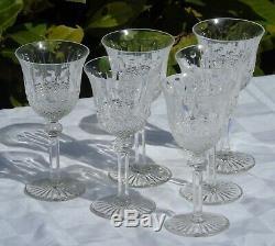 Service de 6 verres à vin blanc en cristal de Saint Louis, modèle Tommy. H15