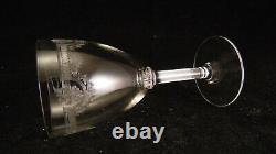Service de 6 verres à vin blanc en cristal de St Saint Louis modèle Manon
