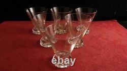 Service de 6 verres en cristal de Saint Louis modèle Diamants hauteur 7.5/7.6 cm