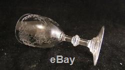 Service de 8 verres à vin en cristal de St Saint Louis modèle Talma