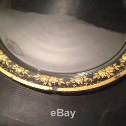 Serviteur Centre de Table Cristal Gravé Or Napoléon III Baccarat St Louis XIX