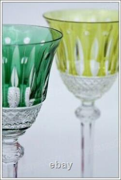 Set de 6 verres à porto en cristal de St Louis modèle Tommy couleur 16,5 cm