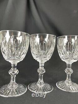 Splendide Serie 6 Verres Cristal Ancien Taille Main Ht 11.7 CM St Louis Baccarat