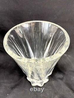 Sublime Grand Vase Floride Cristal St Louis Taille Annees 50 Vintage Ht 25 CM