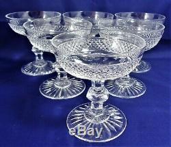 Suite de 6 coupes champagne cristal Saint Louis Trianon Réf A23/8 cup