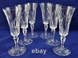 Suite de 6 flûtes à champagne cristal de SAINT LOUIS Camargue Réf A20/35