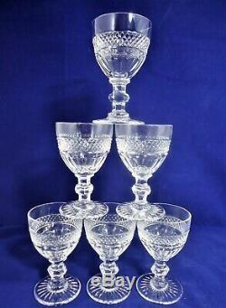 Suite de 6 verres à vin cristal de Saint Louis Trianon Réf A23/8 wine glasses