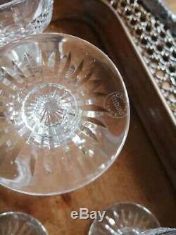 Suite de 8 VERRES À VIN 10,8cm Cristal ST LOUIS modèle TRIANON (Saint Louis)