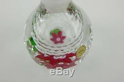 Superbe Flacon De Parfum En Cristal De Saint-louis French Glass