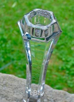 Superbe Lampe Bougeoir Cristal Signée Saint Louis Électrification Neuve Bel État