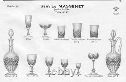 Superbe PAIRE CARAFES Cristal Taillé SAINT-LOUIS XIX 1900 MASSENET
