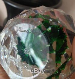 Superbe Sulfure Presse Papier Cristal Saint Louis 18/150 Modéle Artifice