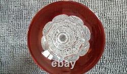 Superbe Vase Versailles Rouge Cristal de Saint-Louis 25 cm Absolument neuf