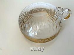Superbe bol tasse coupe en cristal signée St Louis modèle Thistle