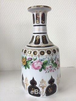 Superbe carafe en cristal overlay Baccarat Saint Louis XIXème