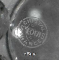 Superbe grand VASE en cristal de SAINT LOUIS estampillé parfait état 6 kg