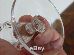 Superbe lot de 11 verres à vin rouge en cristal Saint Louis modèle Jersey 13cm