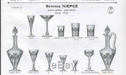 Superbe service 12 verres vin rouge cristal taillé SAINT LOUIS Signés Mod NIEPCE
