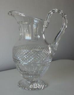 Tres Beau Pichet Broc En Cristal St Louis Trianon Baccarat Pointe De Diamant