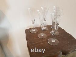 Tres Belle Serie De 6 Verres Flutes A Champagne Cristal Saint Louis Cerdagne