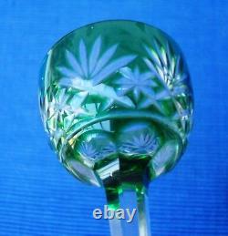 V33 Série 7 Verre Liqueur Cristal doublé Vert St Louis Modèle MASSENET