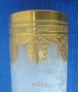 V41 TB Vase Ancien Cristal St Louis Modèle THISTLE dégagé acide Soliflore