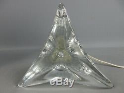 VINTAGE ANCIEN PIED LAMPE CRISTAL SAINT LOUIS ANNÉES 1940 1950 H31 cm