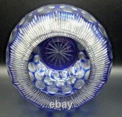 VSL ST LOUIS Vase boule effet kaleïdoscope verre ou cristal taillé