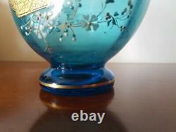 Vase Cristal Saint Louis Couleur Roemer Bleu Ciel Art Nouveau