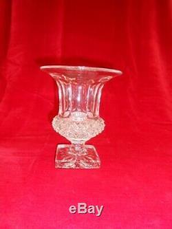 Vase Médicis en cristal taillé versaille collection verrerie saint louis