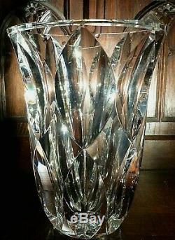 Vase SAINT LOUIS Signé cristal 23 cm