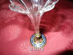 Vase cornet bouquetière émaux cloisonnés cristal baccarat st Louis XIXe