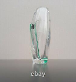 Vase cristal de Saint-Louis designer Claude Bromet 1990 excellent état St-Louis
