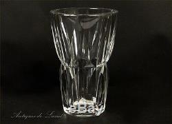 Vase cristal taillé Saint-Louis Camaret 1950 20e