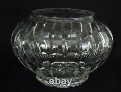 Vase en Cristal Taillé Biseaux Côtes Plates et Rosace Baccarat ou Saint Louis