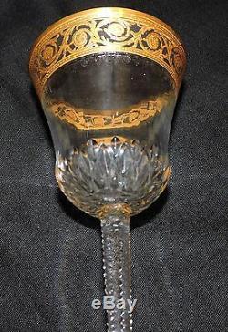 Verre A Bordeaux En Cristal De St Louis Thistle Or En Parfait Etat 14 CM